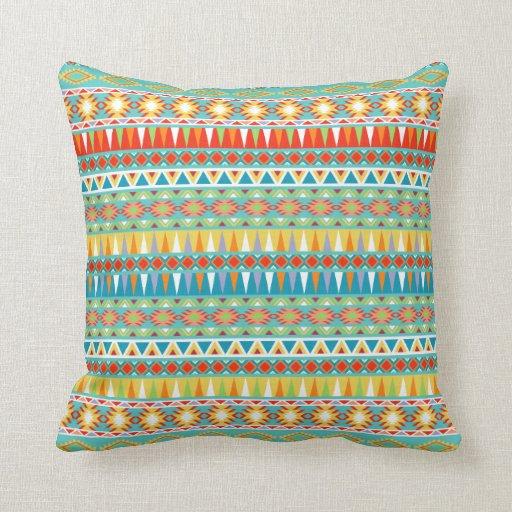 Modern Aztec Pillows : Modern Aztec Pattern Throw Pillows Zazzle
