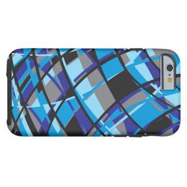 Modern Azure Tough iPhone 6 Case