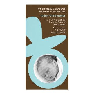 Modern Baby Announcement - Blue Pacifier