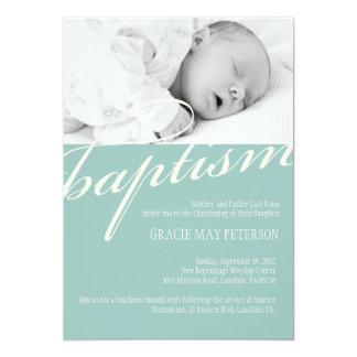 Modern Baby Baptism Invitation