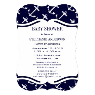 Modern Baby Boy Nautical Shower Invite