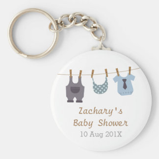 Modern Baby Clothes Baby Boy Shower Party Favors Keychain