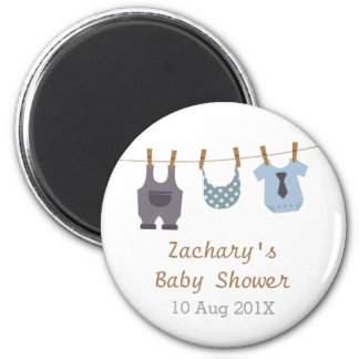 Modern Baby Clothes Baby Boy Shower Party Favors Magnet