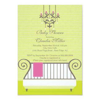 Modern Baby Crib Baby Shower Invitation