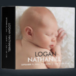 "Modern Baby Photo Album - Black 3 Ring Binder<br><div class=""desc"">Design &#169; berryberrysweet.com</div>"
