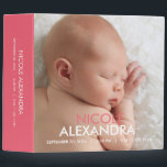 """Modern Baby Photo Album - Pink Binder<br><div class=""""desc"""">Design &#169; berryberrysweet.com</div>"""
