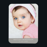 "Modern Baby Photo Magnet<br><div class=""desc"">Modern baby,  kid photo. You can also add your family photo.</div>"
