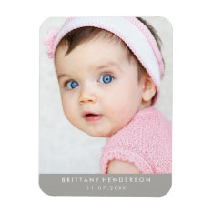 Modern Baby Photo Magnet at Zazzle
