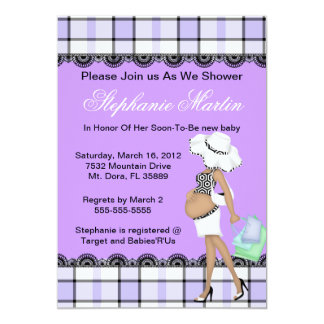 Modern baby shower 5x7 paper invitation card