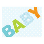 Modern Baby Shower Advice Card Bold in Blue