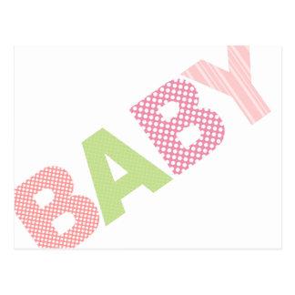 Modern Baby Shower Advice Card Bold in Pink