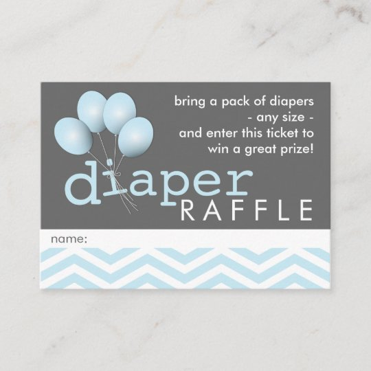 modern baby shower diaper raffle ticket insert