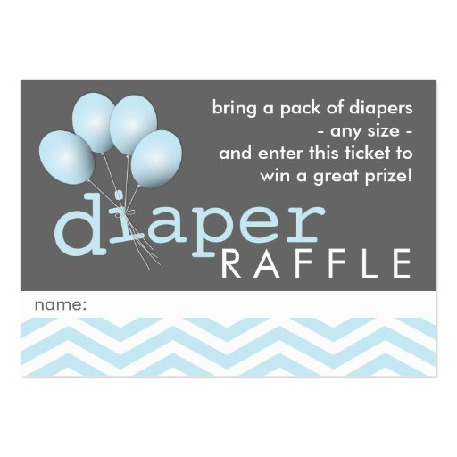 Diaper Raffle Tickets Gifts