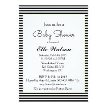 Black and white baby shower invitations announcements zazzle filmwisefo Images