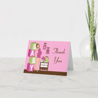 Modern Baby Shower Thank You Card