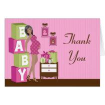 Modern Baby Shower Thank You Card