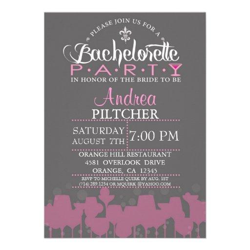 Modern Bachelorette Party Invite (front side)