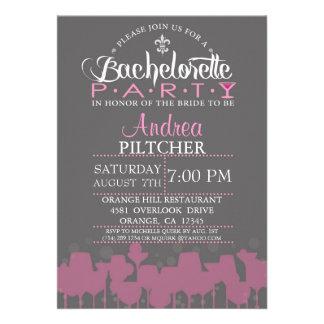 Modern Bachelorette Party Invite