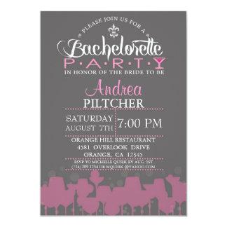 """Modern Bachelorette Party Invite 5"""" X 7"""" Invitation Card"""