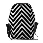 Modern bag with black and white chevron pattern commuter bags