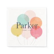 Modern ballon bunch birthday party napkins