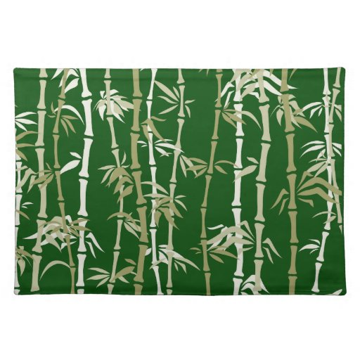 Modern Bamboo Trees Placemats