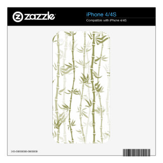 Modern Bamboo Trees Decals For The iPhone 4