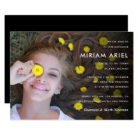 Modern Bar Mitzvah or Bat Mitzvah Photo Card