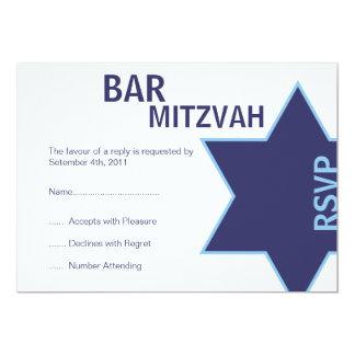 "Modern Bar Mitzvah RSVP (4.25""by 5.5"") Card"