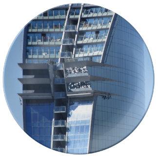 Modern Barcelona Hotel Porcelain Plate
