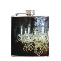 modern barnwood crystal chandelier paris fashion hip flasks