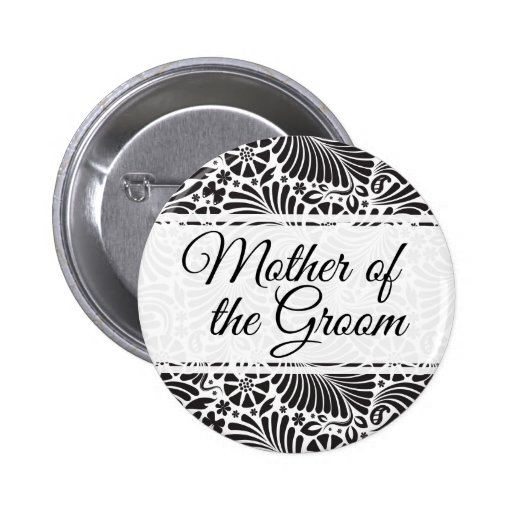 Modern Baroque Floral Mother of the Groom 2 Inch Round Button