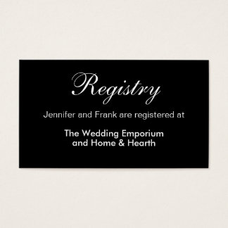 Modern Baroque Floral Wedding Registry Insert
