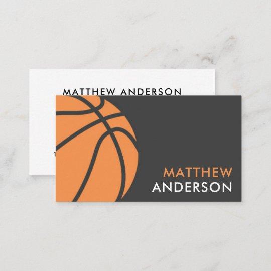 Modern Basketball Coach Business Cards Zazzle
