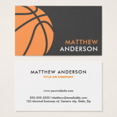 Modern Basketball Coach Business Cards at Zazzle