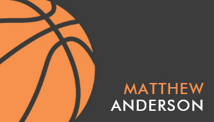 Basketball business cards templates zazzle modern basketball coach business cards colourmoves