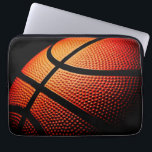 "Modern Basketball Sport Ball Skin Texture Pattern Laptop Sleeve<br><div class=""desc"">Beautiful contemporary close-up image of basketball ball skin print pattern. Funky,  sporty,  modern and whimsical design was created for the basket ball team player,  coach,  trainer,  fan or lover,  the basketball mom or dad.</div>"