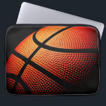 """Modern Basketball Sport Ball Skin Texture Pattern Laptop Sleeve<br><div class=""""desc"""">Beautiful contemporary close-up image of basketball ball skin print pattern. Funky,  sporty,  modern and whimsical design was created for the basket ball team player,  coach,  trainer,  fan or lover,  the basketball mom or dad.</div>"""