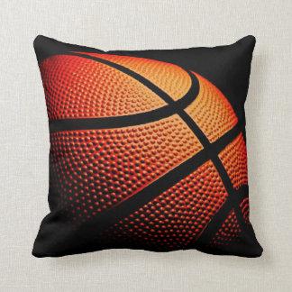 Modern Basketball Sport Ball Skin Texture Pattern Throw Pillow