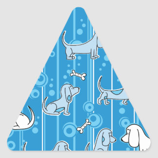 Modern Bassets Triangle Sticker