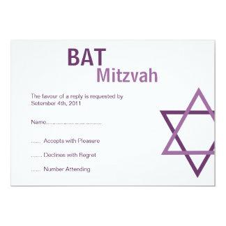"Modern Bat Mitzvah RSVP (4.25""by 5.5"") Card"