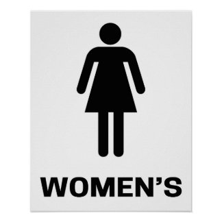 Modern Bathroom Sign Women s Poster. Bathroom Sign Posters   Zazzle
