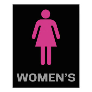 Restroom Sign Posters Zazzle