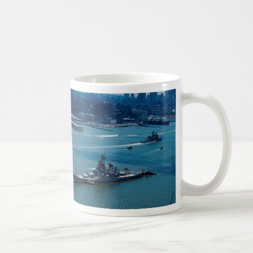 Modern battleship uss wisconsin new york u s coffee mugs