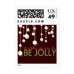 Modern Be Jolly Christmas Season Stamp