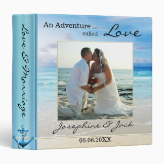 Modern Beach and Ocean Wedding Photo Binder