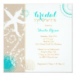 Modern Beach Bridal Shower Card at Zazzle