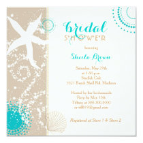 Modern Beach Bridal Shower Invitation