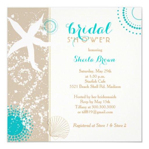 Modern Beach Bridal Shower Invitations