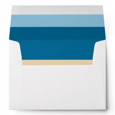 Modern beach colors sea ocean sand Beach Wedding Envelope